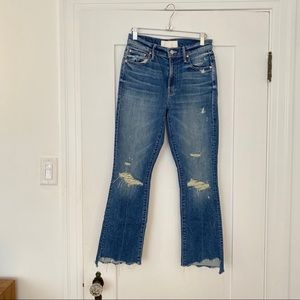 MOTHER Insider Crop Step Chew Jeans